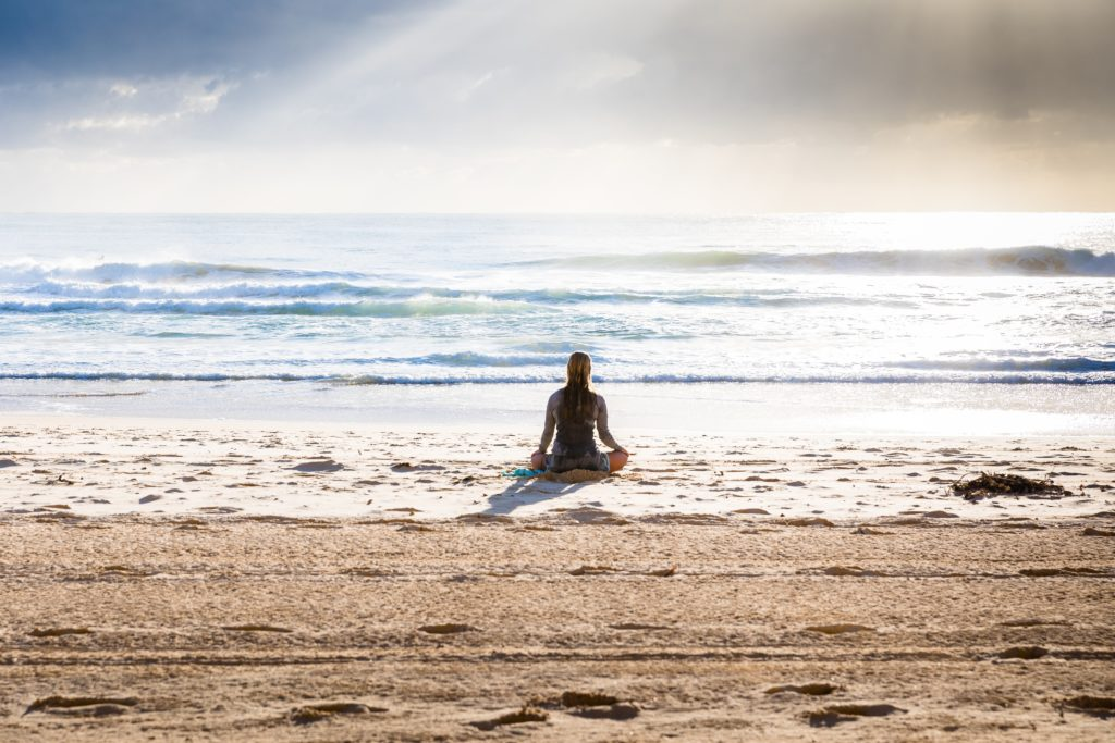 woman on the beach Reiki
